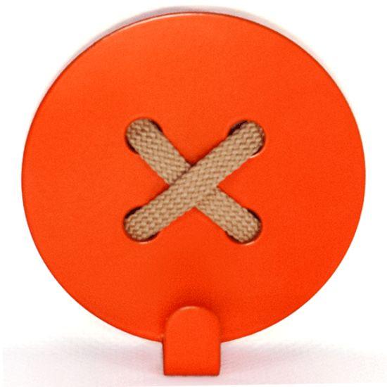 Вешалка настенная Крючок Glozis Button Orange H-025 8х8см