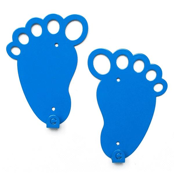 Вешалка настенная Детская Glozis Feet Blue H-045 10х14смх2 штуки