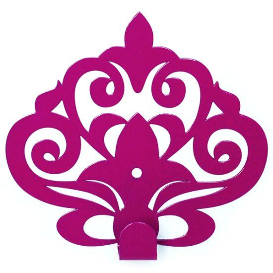 Вешалка настенная Крючок Glozis Ajur Purple H-063 11х10см